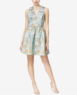 Betsey Johnson Floral Jacquard Bow Dress