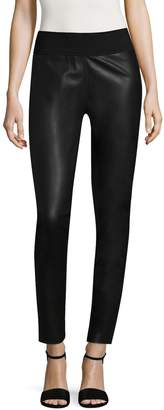 Bagatelle Women's Faux Leather and Ponte Leggings