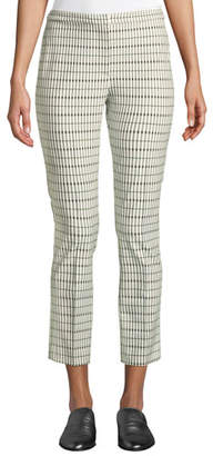 Theory Classic Skinny Pants - Viscose Grid