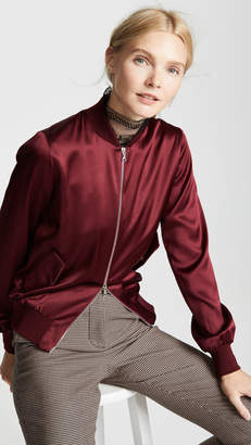 ADAM by Adam Lippes Silk Bomber Jacket