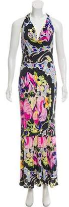 Yigal Azrouel Printed Halter Dress