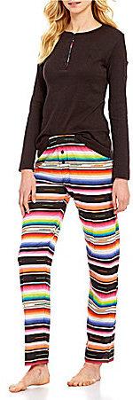 Lauren Ralph LaurenLauren Ralph Lauren Striped Slub Jersey Henley Pajamas