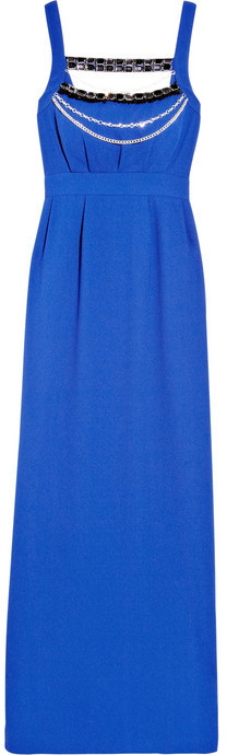 ALICE by Temperley Long Masai embellished crepe maxi dress