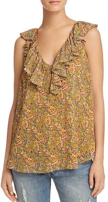 Rebecca Minkoff Carlisle Sleeveless Floral Paisley Top