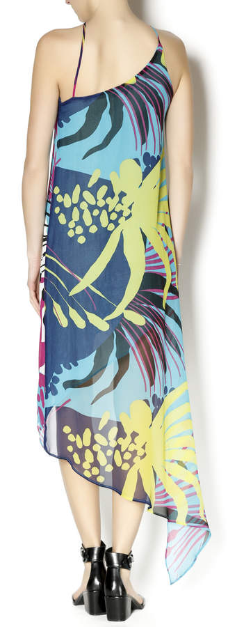 Olivaceous Silk Multicolor Dress
