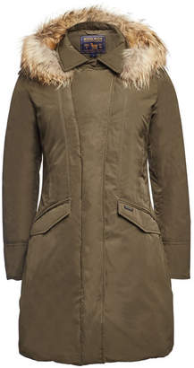 Woolrich Modern Vail Down Coat with Fur