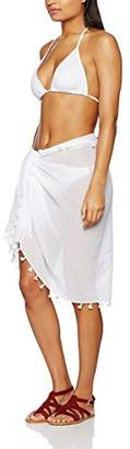 Seafolly Women's Beach Basics Cotton Gauze Sarong Swimsuit Cover up,One Size