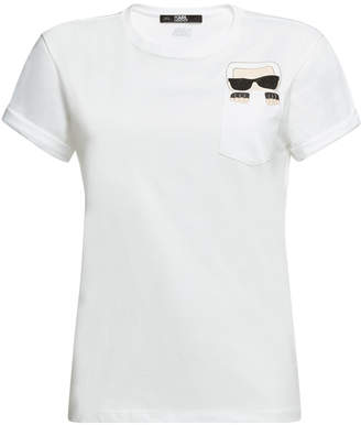 Karl Lagerfeld Iconic Pocket Cotton T-Shirt