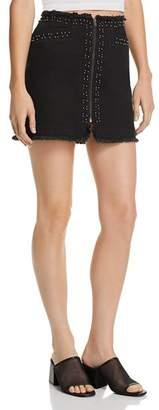 Pistola Beaded Frayed Denim Skirt - 100% Exclusive