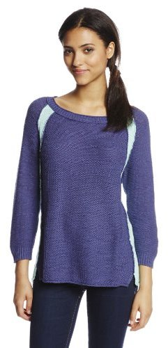 Michael Stars Women's Long Sleeve Colorblock Lightweight Sweater