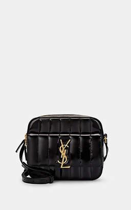 Saint Laurent Women's Monogram Vicky Patent Leather Camera Bag - Black