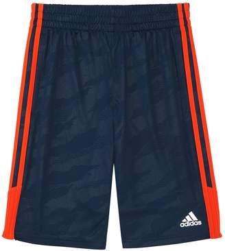 adidas Boys 4-7x climalite Moto Camouflage Embossed Pieced Shorts