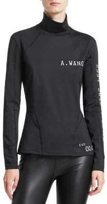 Alexander Wang Long-Sleeve Scuba Rash Guard