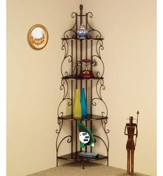 Coaster Decorative Copper Corner Bookcase