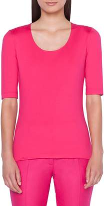 Akris Elbow Sleeve Scoop Neck Tee