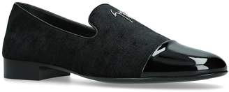 Giuseppe Zanotti Patent Logo Loafers