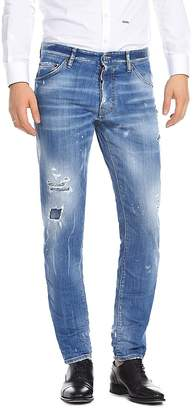 DSQUARED2 Slim Fit Jeans in Faded Blue