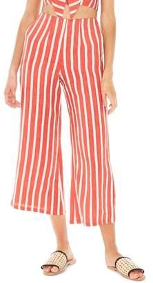 Faithfull The Brand Tomas Stripe Linen Wide Leg Pants