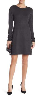 Modern American Designer Ruffle Sleeve Knit Dress