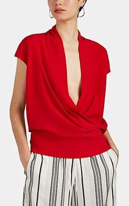 Zero Maria Cornejo Women's Tasmeen Silk Charmeuse Wrap Top - Red