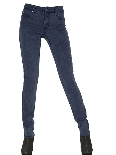 Cheap Monday 5 Pocket Mid Rise Stretch Denim Jeans