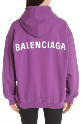 Balenciaga Logo Back Hoodie