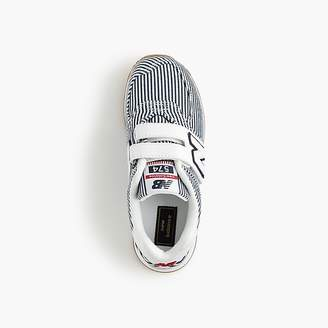 J.Crew Kids' New Balance® for crewcuts 574 Velcro® sneakers in stripes