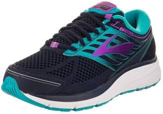 Brooks Women's Addiction 13 Extra Wide 2E Evening/Blue/Teal/Victory/Purple/Cactus/Flower Running Shoe 7.5 2E Women US