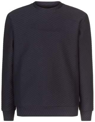 Emporio Armani Chevron Ribbed Sweater