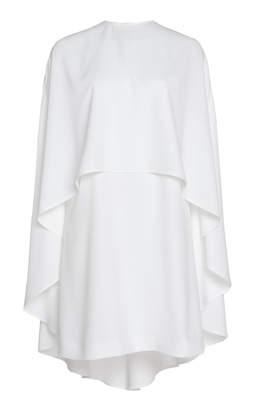Sara Battaglia Mini-Dress-And-Flowing-Cape Set