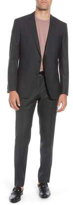 BOSS Huge/Genius Trim Fit Houndstooth Wool Suit