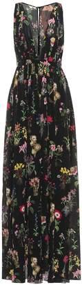 N°21 Floral-printed silk dress