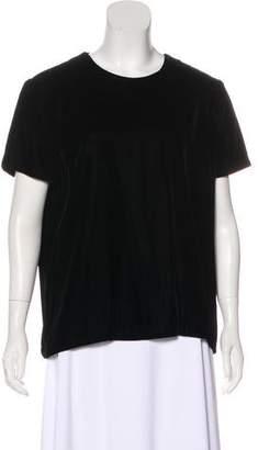 Calvin Klein Collection Button-Up Velvet Top