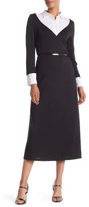 Monique Lagarde Collared Long Sleeve Dress