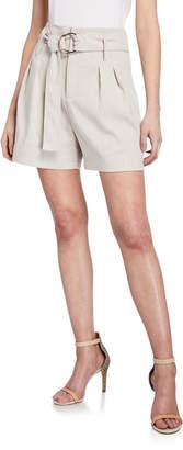 Elie Tahari Genna High-Waist Belted Shorts