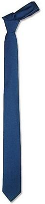 Forzieri Solid Blue Twill Silk Narrow Tie
