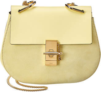 Chloé Drew Small Leather & Suede Shoulder Bag