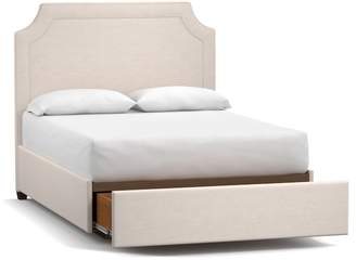 Pottery Barn Ardley Upholstered Footboard Storage Bed
