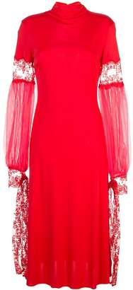 Christopher Kane mesh sleeve midi dress