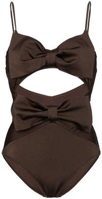 Zimmermann bow detail swimsuit