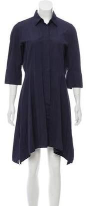 Max Mara Button-Up Knee-Length Dress
