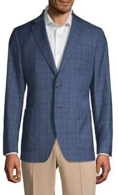 Saks Fifth Avenue Plaid Sport Jacket