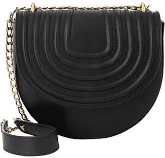 Jaeger Lillie Quilted Shoulder Bag, Black