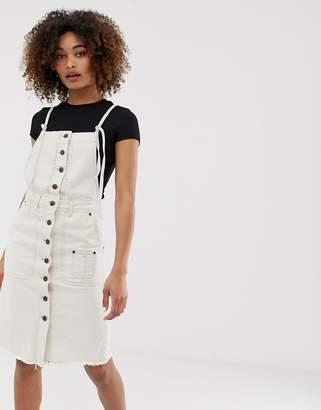 Pepe Jeans Salty white denim button down dress