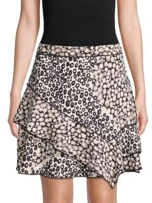 Derek Lam 10 Crosby Printed Ruffle Mini Skirt