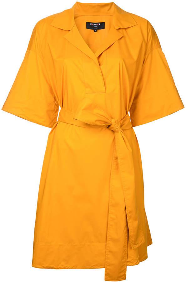 Paule Ka short woven wrap dress