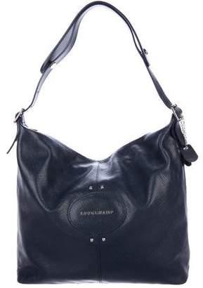 Longchamp Textured Leather Zip Shoulder Bag