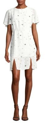 Star-Print Flare-Sleeve Dress $90 thestylecure.com
