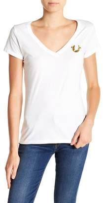 True Religion Deep V-Neck Short Sleeve Shirt