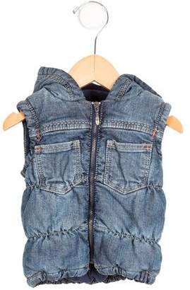 Jean Paul Gaultier Boys' Denim Hooded Vest